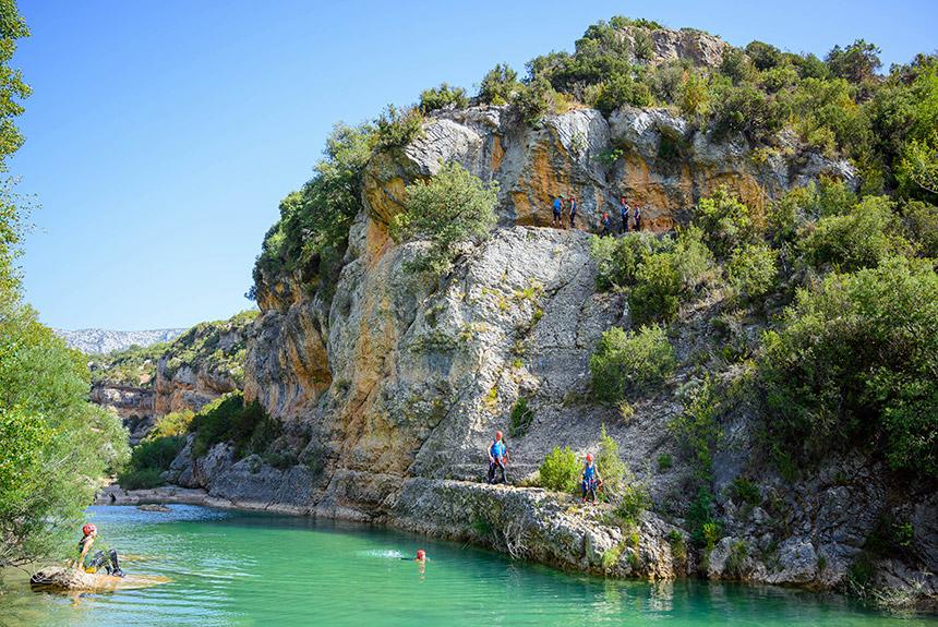 Voyage sur l'eau Espagne : Guara l\'aqua-ludique, balades canyoning en version confort!