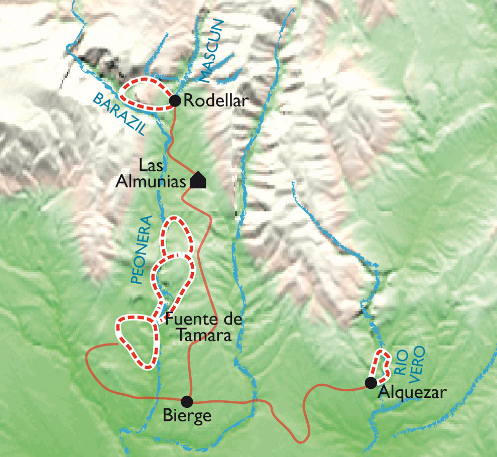 Carte Guara l'aqua-ludique, balades canyoning en version confort!
