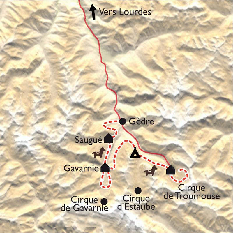 Itinéraire Gavarnie, la ronde des Cirques avec des ânes