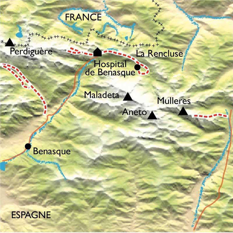 Raquettes Benasque, Aneto dans les Pyrénées