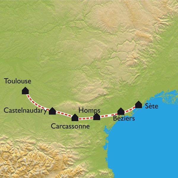 itinéraire canal du midi