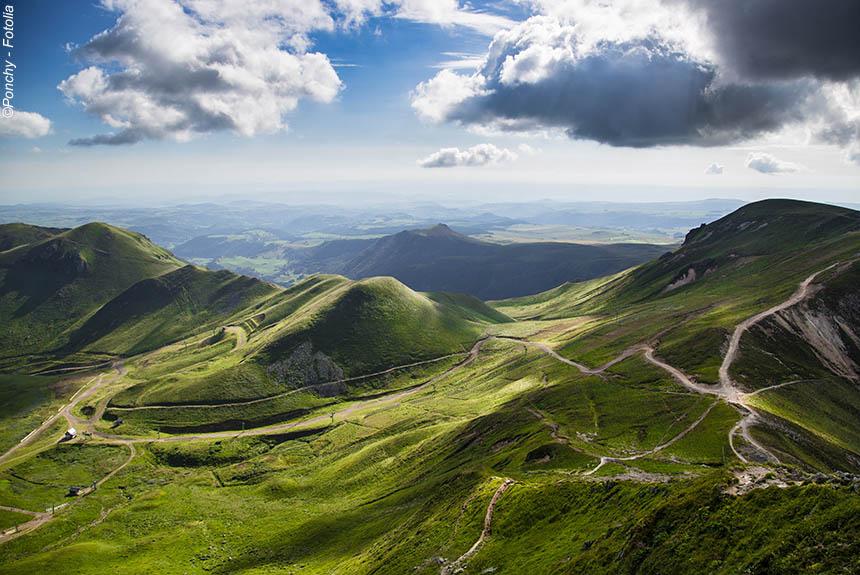 Voyage à pied : Bien être au cœur des volcans d\'Auvergne