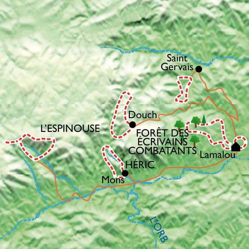 Itinéraire Caroux Bien-être, rando et balnéo à Lamalou les Bains.