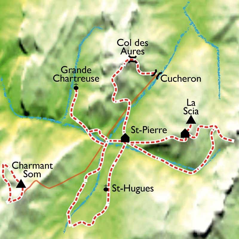Itinéraire Trésors de bien être en Chartreuse