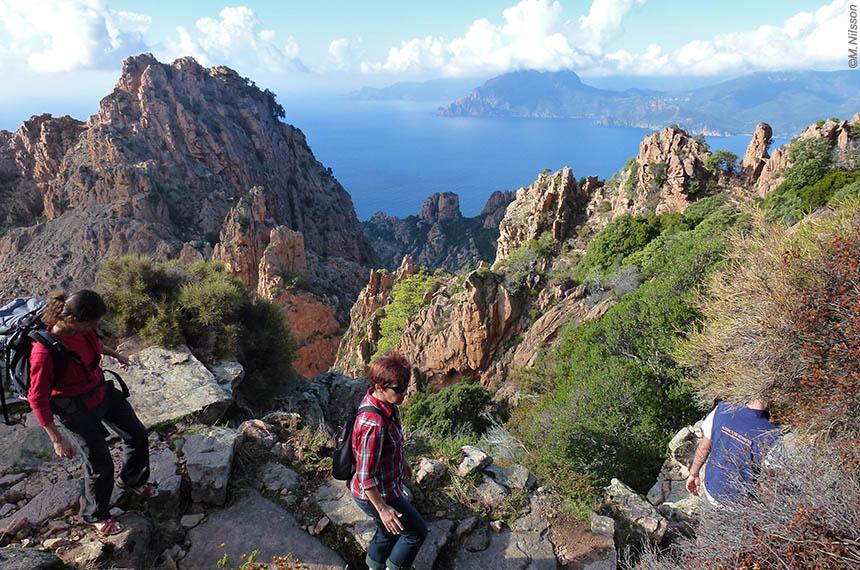 Voyage à pied France : Corse, De Corte au Golfe de Porto