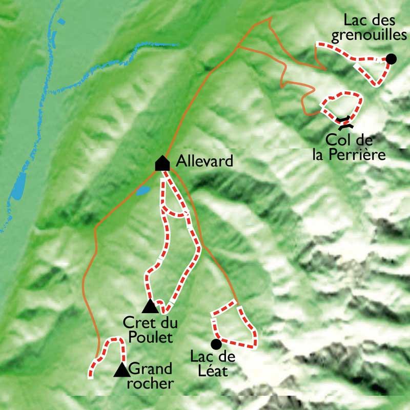Itinéraire Rando Balnéo et Yoga dans les Alpes Dauphinoises