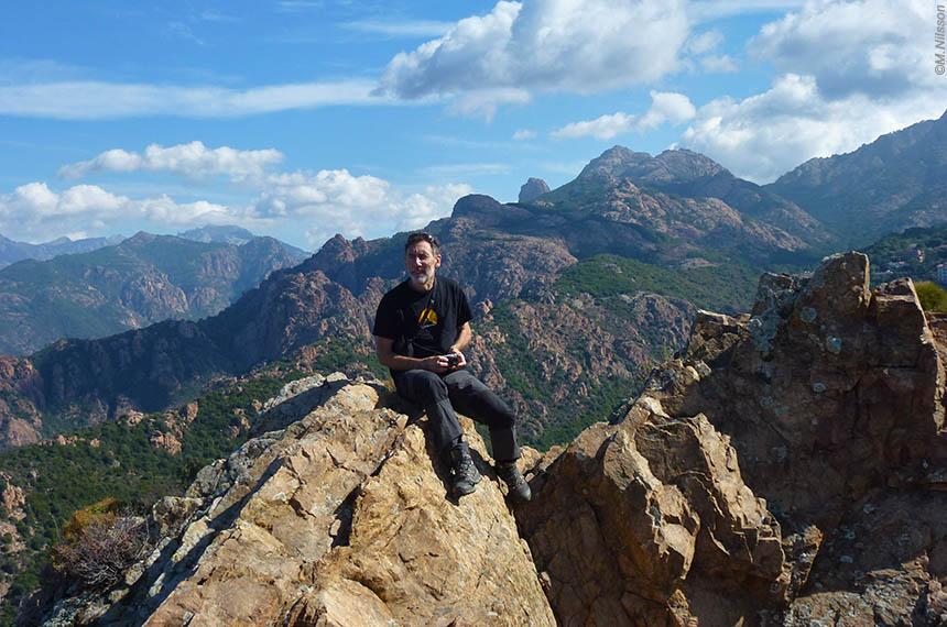 Voyage à pied France : Corse, Le GR20 Sud, de Bavella à Vizzavona, sac transporté