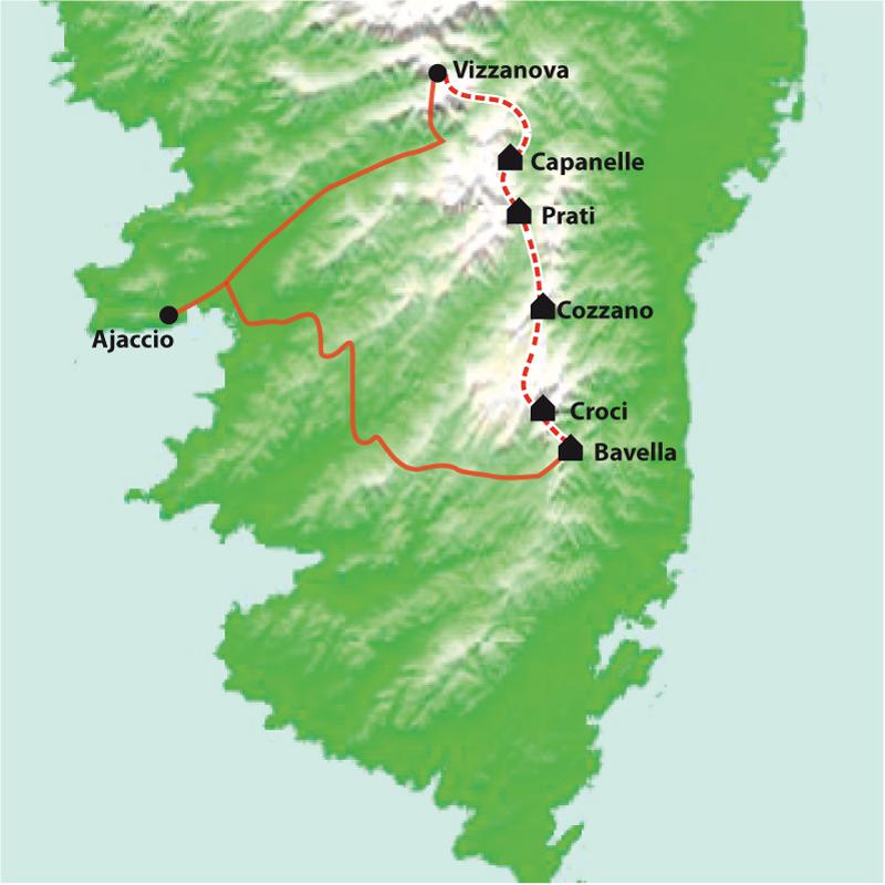 Itinéraire Corse, Le GR20 Sud, de Bavella à Vizzavona, sac transporté