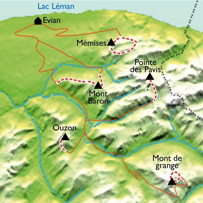 Itinéraire Sentiers et saveurs du Léman