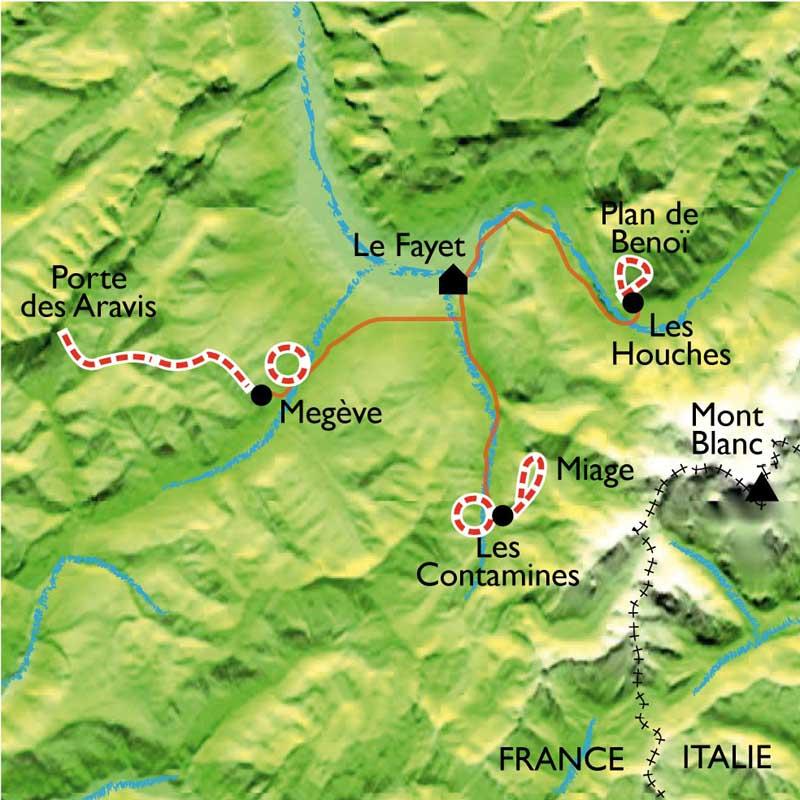 Itinéraire Rando balnéo au pays du Mont Blanc