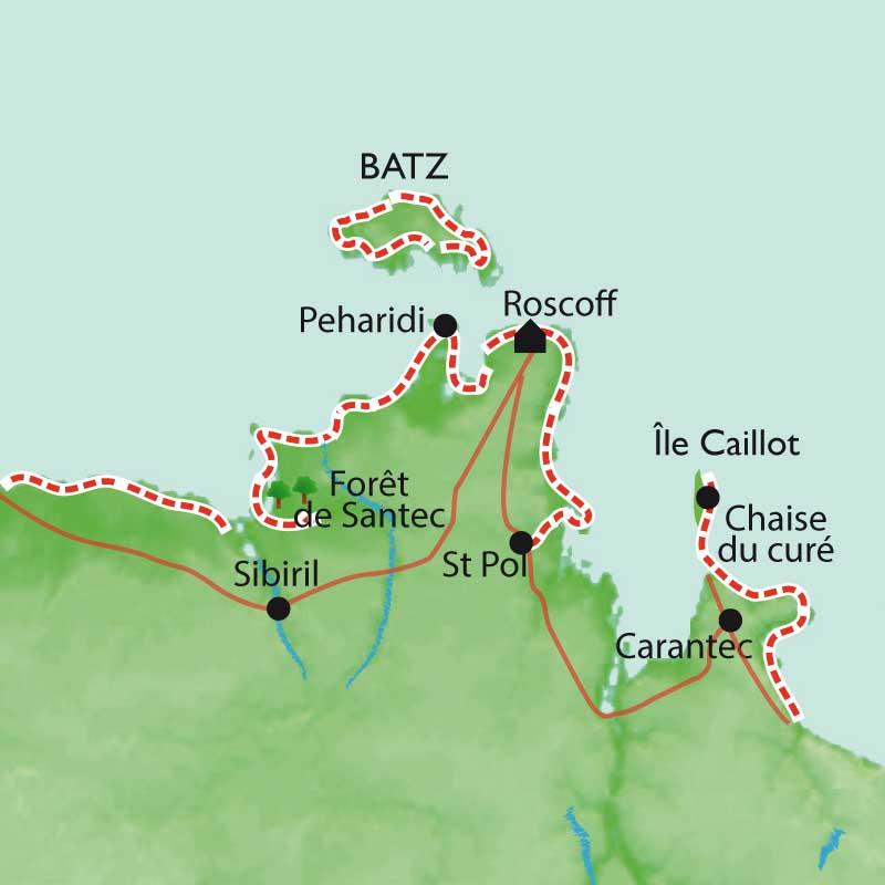 Itinéraire Roscoff - Ile de Batz, Remise en forme