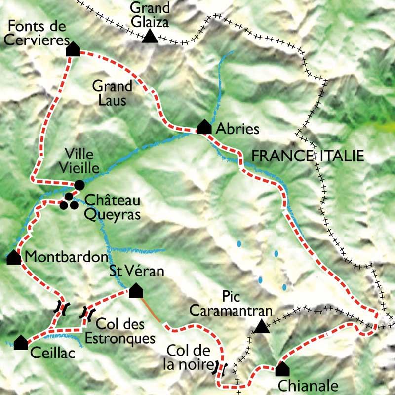 Itinéraire Le Tour du Queyras en gîtes