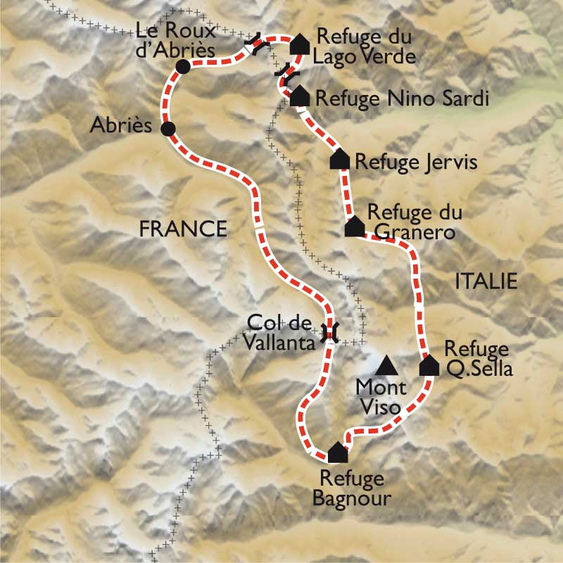 Carte Le Tour du Viso,