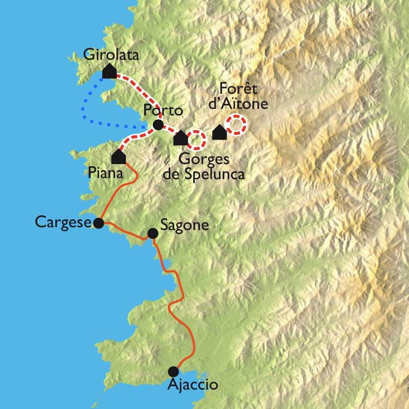 Itinéraire Mare e Monti, randos et baignades en famille
