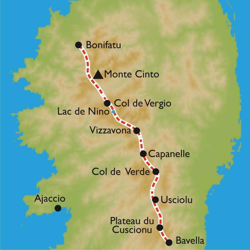 Carte Corse Nord.Randonnee Gr20 En Liberte