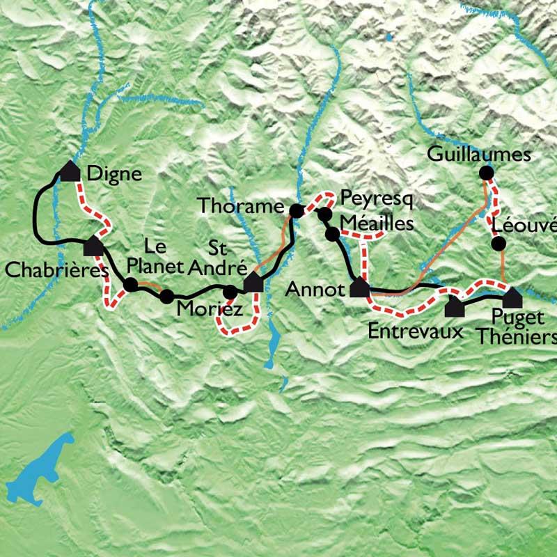 Itinéraire La Ligne Bleue des Alpes