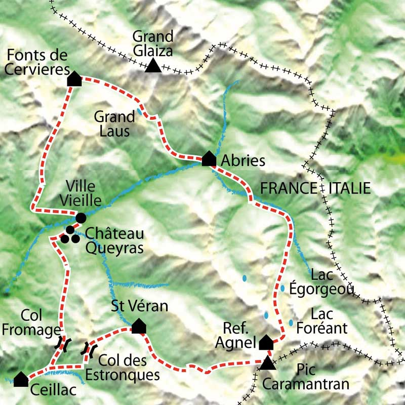 Carte Tour du Queyras