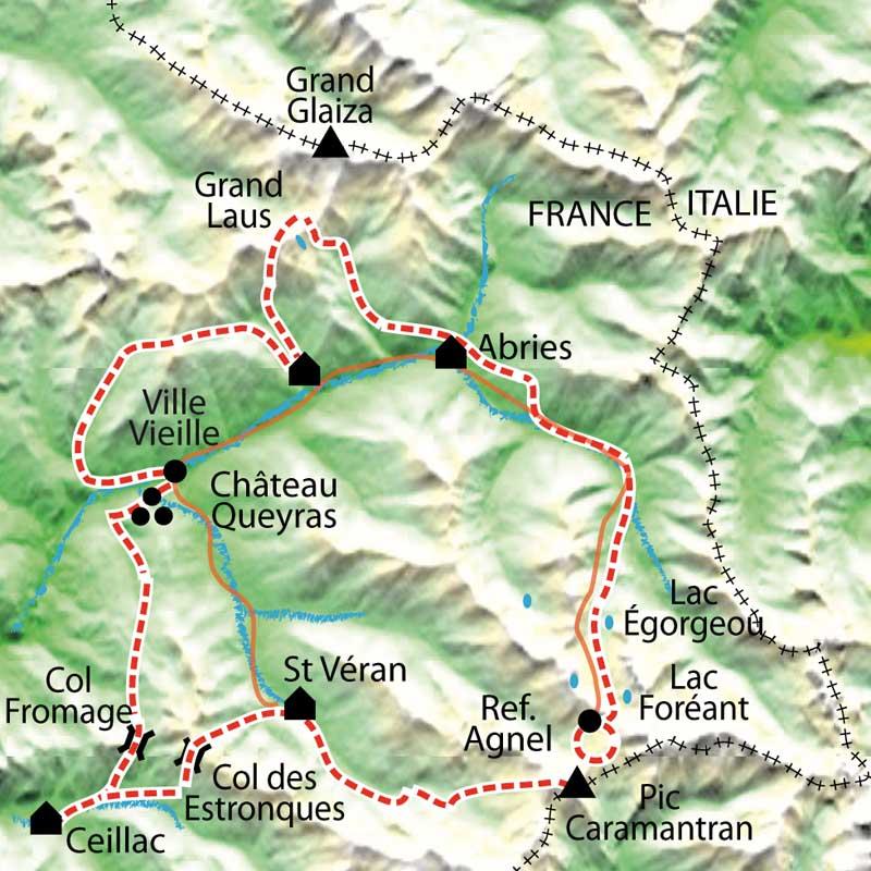 Tour Du Queyras Carte.Tour Du Queyras Confort