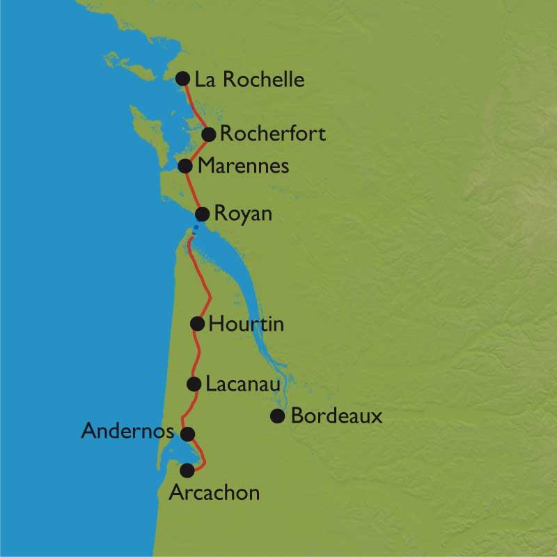 Velodyssee La Rochelle Arcachon