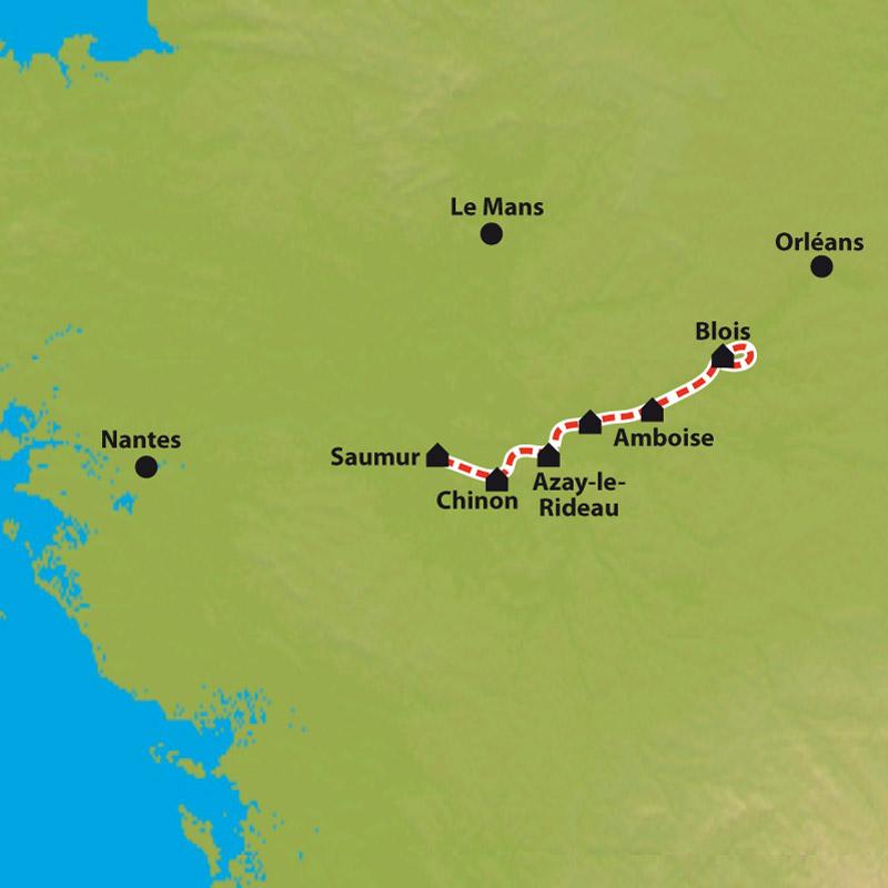 Carte Les Chteaux De La Loire Blois Saumur