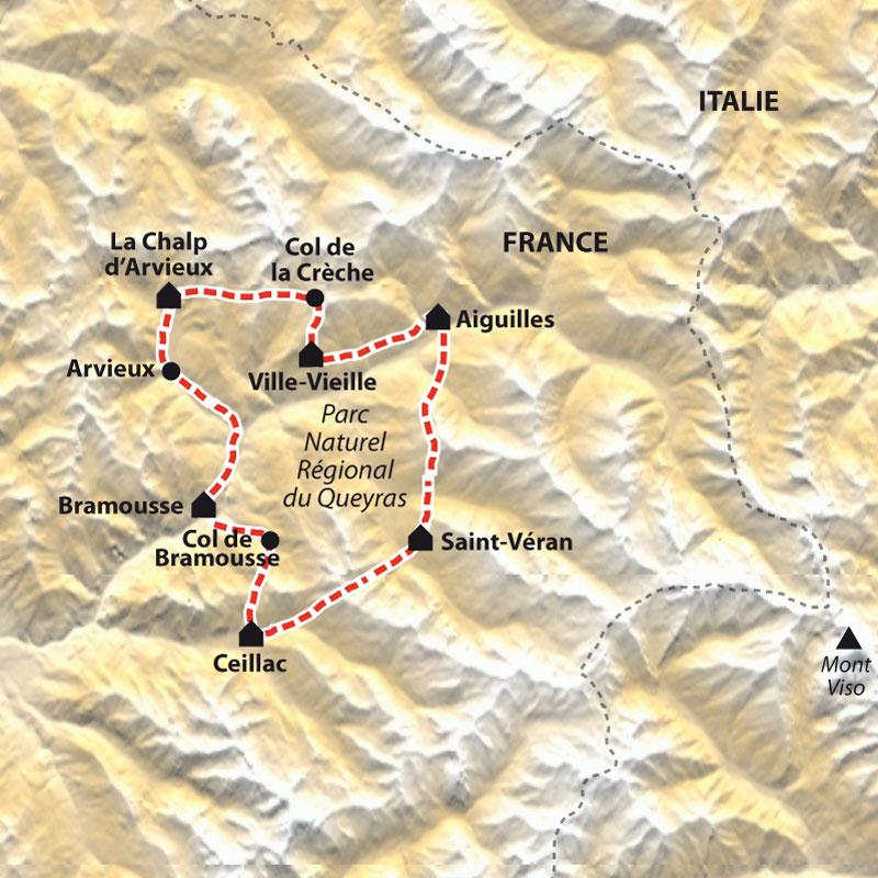 Tour Du Queyras Carte.Le Tour Du Queyras Vtt En Liberte