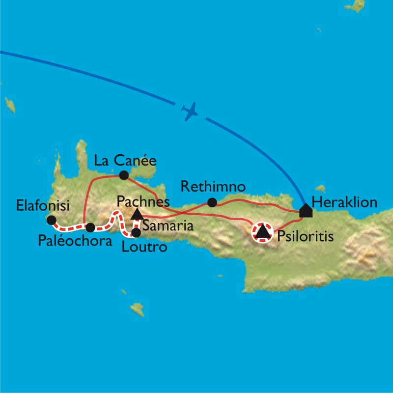 Itinéraire Crète - Mer et Montagne