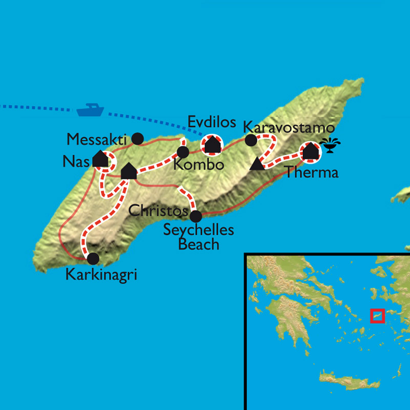 Carte Ikaria, source de vie