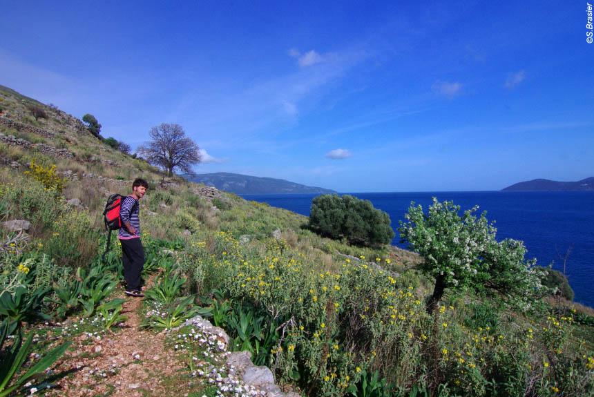 Voyage à pied Grèce : Ioniennes : la patrie d\'Ulysse
