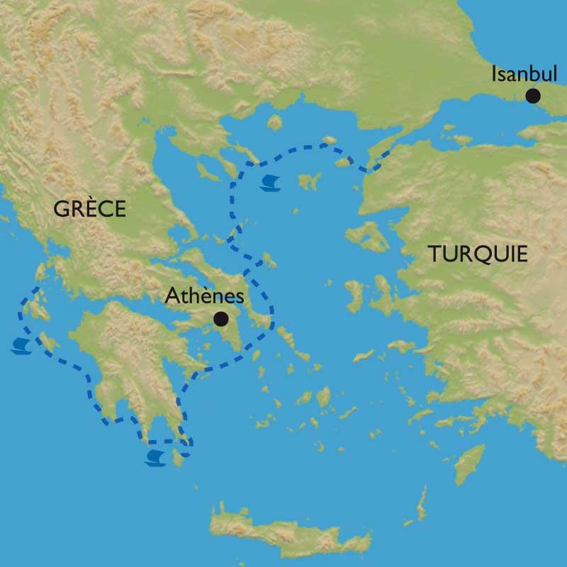 Voyage Voilier Cyclades Ithaque Peloponn 232 Se