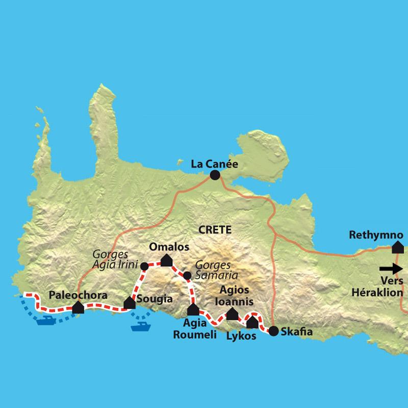 Carte Crete Gorges De Samaria.Crete Sur Les Traces De Zeus