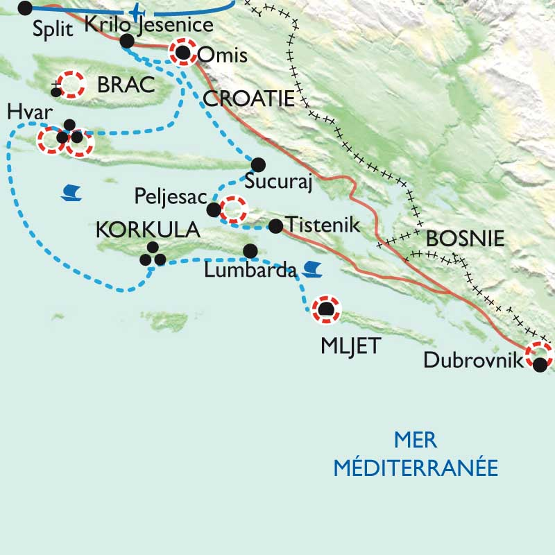 Randonn 233 E Croatie Dalmatie Korcula