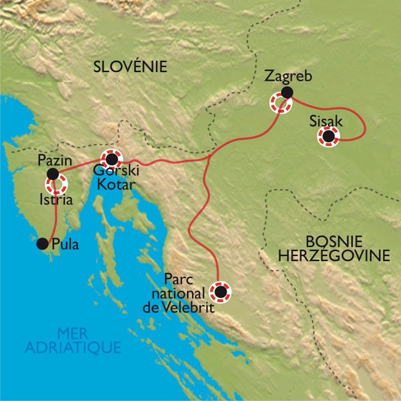Carte Nuage Croatie.Les Secrets De La Croatie Du Nord