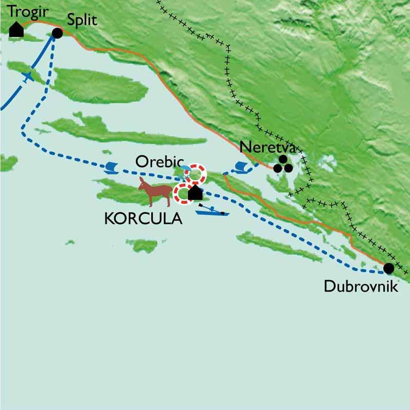 Itinéraire La Croatie à pied, en kayak et à velo  !