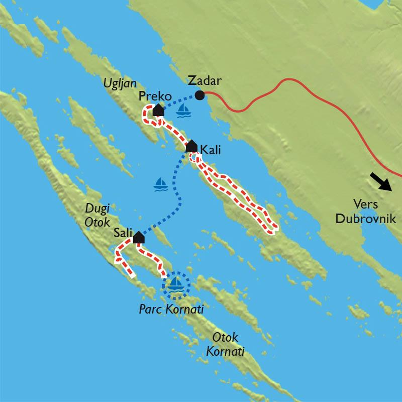Carte Nuage Croatie.Zadar La Riviera Croate Et Les Iles Dalmates A Velo