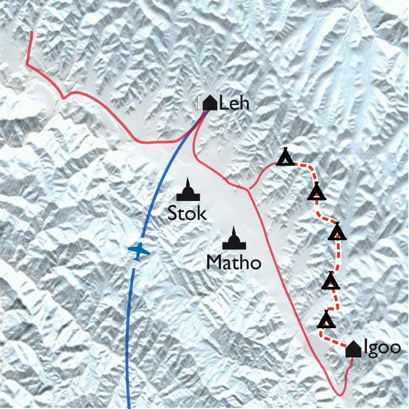 Itinéraire Randonnée et yoga au Ladakh