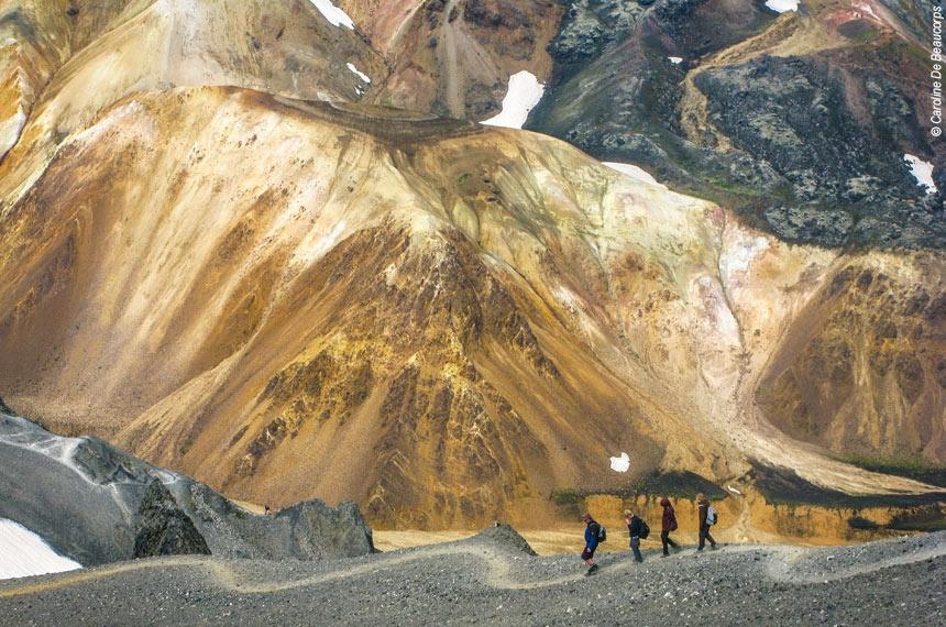 Voyage à pied : De Landmannalaugar à la route des sources chaudes
