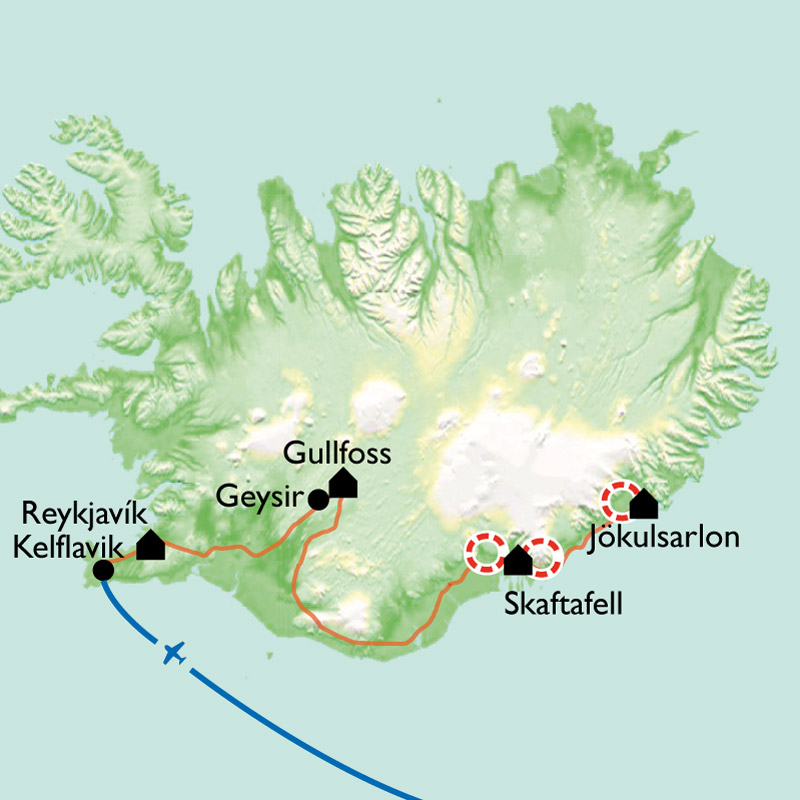 Carte City break à Reykjavik & Co