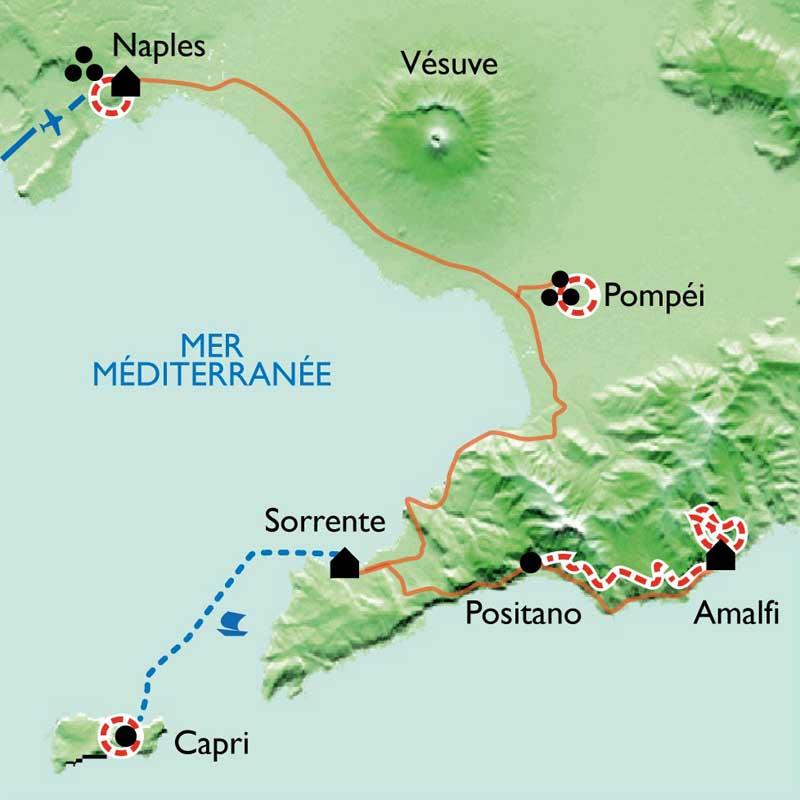 Carte Campanie Naples Et La Cte Amalfitaine