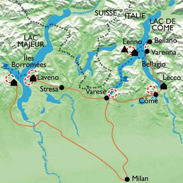 Assez Randonnée lac de Côme et lac Majeur - Lacs italiens GR15