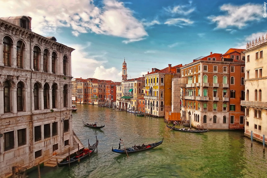 Voyage à pied Italie : Venise et les îles de la lagune.