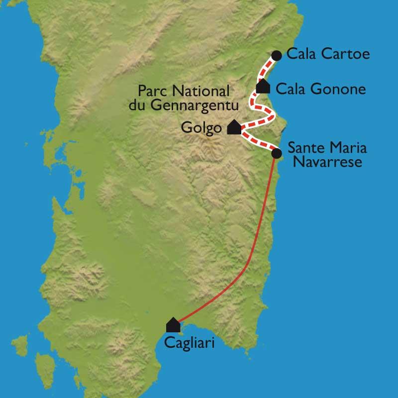 Itinéraire Sardaigne avec le mythique et sauvage Selvaggio Blu