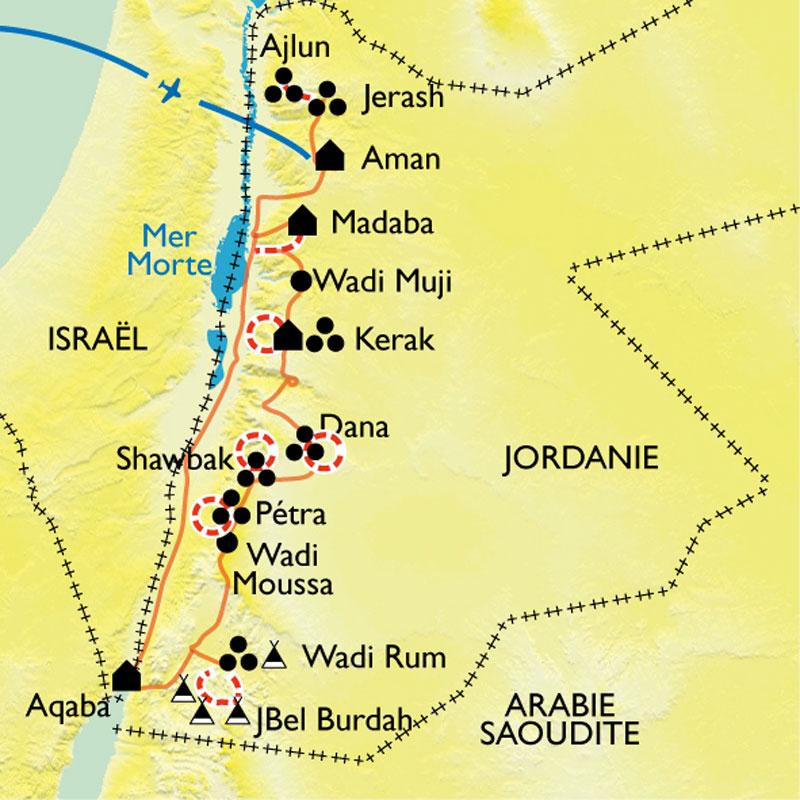 Carte Jordanie Petra.Petra Et Le Wadi Rum