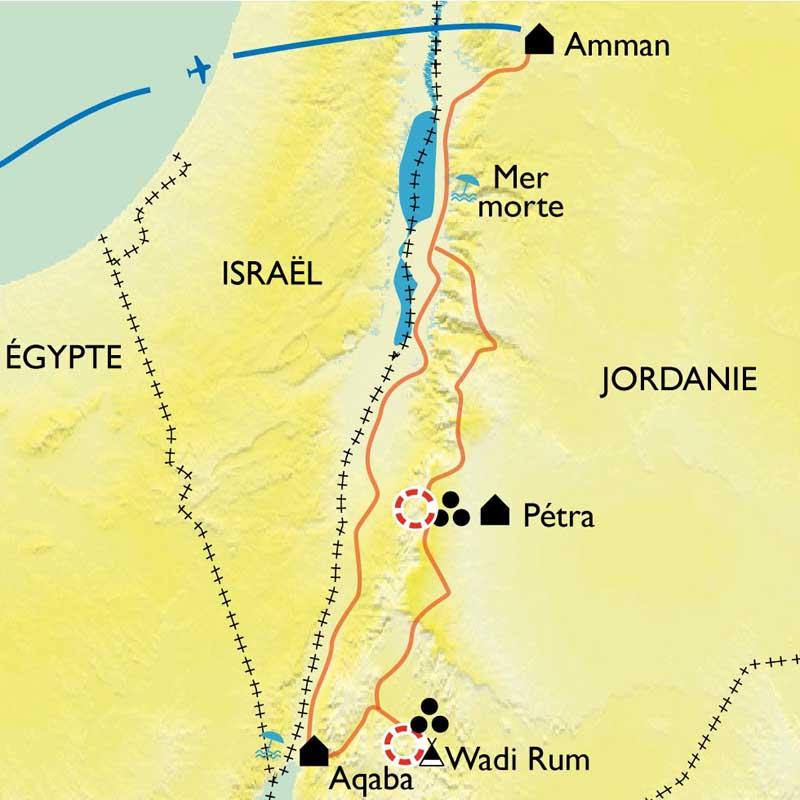Itinéraire De la route des Rois à Aqaba
