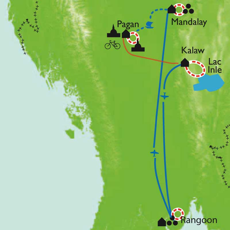 Itinéraire Balades birmanes en liberté
