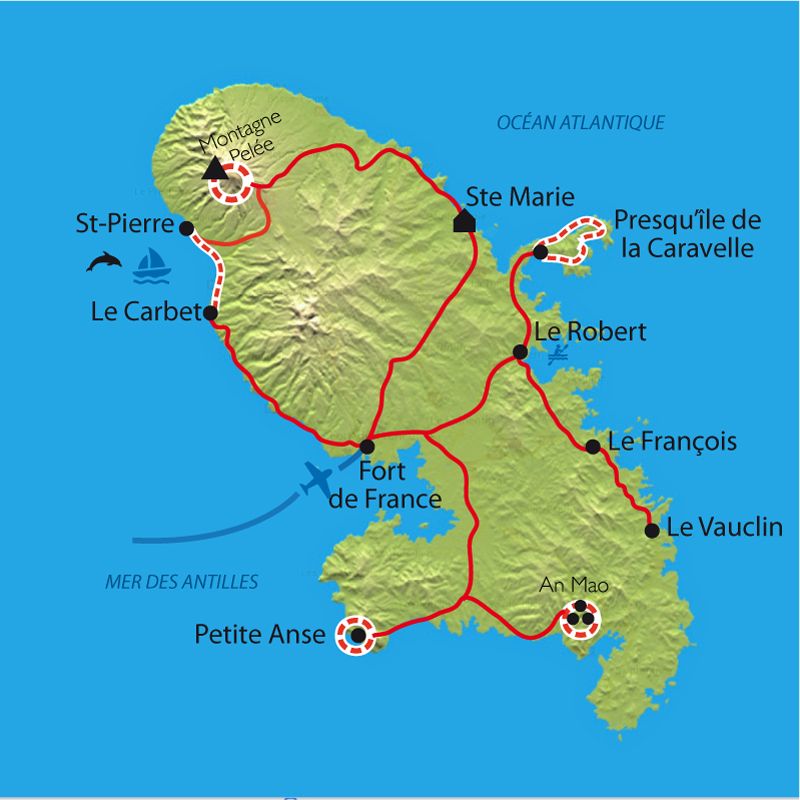 Randonnée Martinique, Baignades