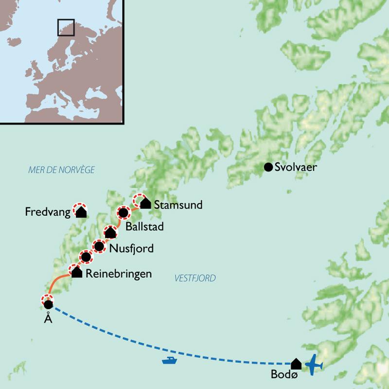 Itinéraire Les îles Lofoten