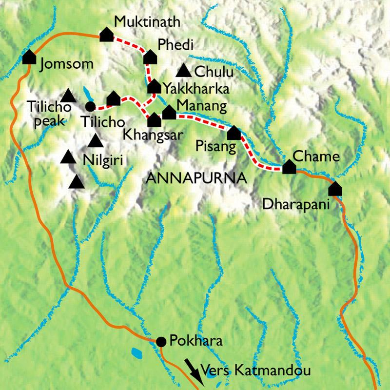 Itinéraire Tour des Annapurnas