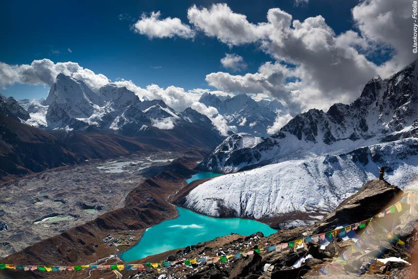 Voyage à pied Nepal : Lacs de Gokyo, Kala Pattar et camp de base de l\'Everest