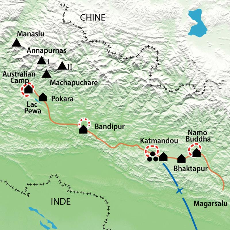 Itinéraire Des Annapurnas à Katmandou, à la croisée des chemins