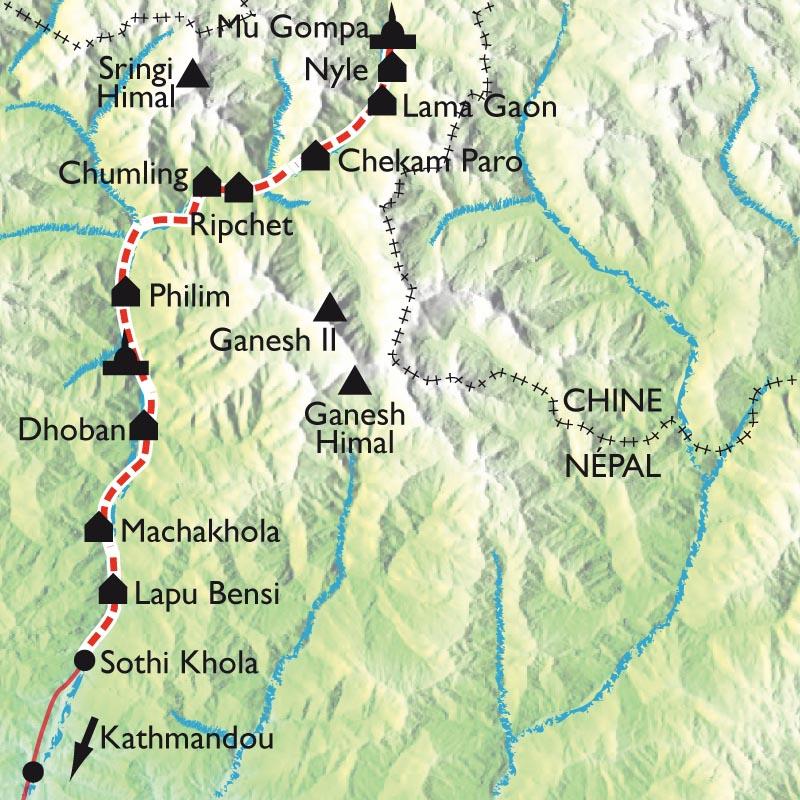 Itinéraire Vallée de la Tsum